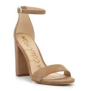 NEW Sam Edelman Yaro Suede Block Heel Sandals